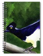 Plush Crested Jay Spiral Notebook