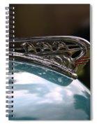 Art Deco Plymouth Hood Ornament Spiral Notebook