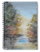 Pm River Sunset Spiral Notebook