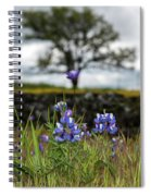 Pocket Of Lupines Spiral Notebook