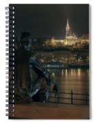Poet On The Danube Spiral Notebook