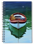 Coastal Wall Art, Poetic Light, Fishing Boat Paintings Spiral Notebook