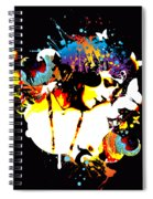 Poetic Peacock - Bespattered Spiral Notebook