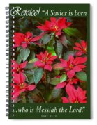 Poinsettia Christmas Spiral Notebook