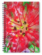 Poinsettia For Christmas Spiral Notebook