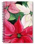 Poinsettia Pastel Spiral Notebook