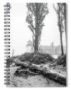 Point Betsie Lighthouse In Fog Spiral Notebook