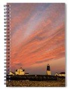 Point Judith Lighthouse Sunset Spiral Notebook