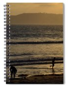 Point Loma California Surfers Spiral Notebook