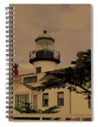 Point Pinos Lighthouse Antiqued Spiral Notebook