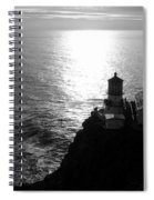 Point Reyes Lighthouse - Black And White Spiral Notebook