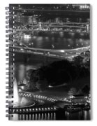 Point State Park In Black And White Spiral Notebook