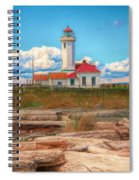 Point Wilson Lighthouse And Driftwood Spiral Notebook