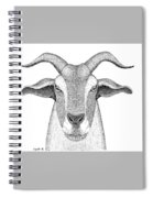 Farm Goat In Pointillism Spiral Notebook