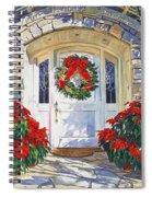 Pointsettia House Spiral Notebook