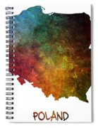 Poland Map Polska Map Spiral Notebook