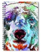 Polar Bear Colored Grunge Spiral Notebook