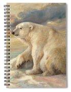 Polar Bear Rests On The Ice - Arctic Alaska Spiral Notebook
