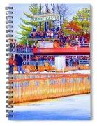 Polar Dip Crowd  Spiral Notebook