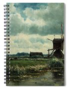Polder Landscape With Windmill Near Aboude Spiral Notebook
