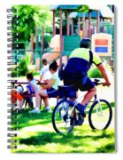 Police Officer Rides A Bicycle Spiral Notebook