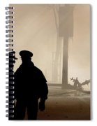 Police Watching Firefighters During Moose Jaw New Years Fire Spiral Notebook
