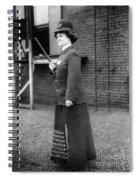 Policewoman, 1909 Spiral Notebook