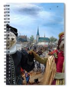 Polish Lowland Sheepdog Art Canvas Print - Prince And Princess Of Orange Spiral Notebook