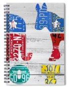 Political Party Election Vote Republican Vs Democrat Recycled Vintage Patriotic License Plate Art Spiral Notebook