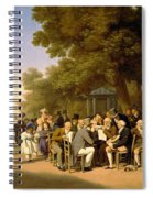 Politicians In The Tuileries Gardens Spiral Notebook