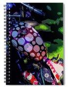 Polka Dot Bike Spiral Notebook