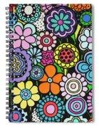 Polka Dot Bouquet Spiral Notebook