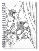Polly And Tammy On The Balcony Spiral Notebook