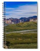 Polychrome Pass Area Denali National Park Four Spiral Notebook