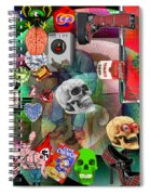 Polyester Plaid Spiral Notebook