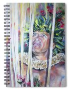 Polynesian Maori Warrior With Spears Spiral Notebook