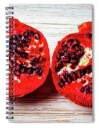 Pomegranate Cut In Half Spiral Notebook