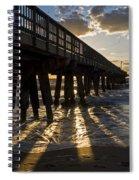 Pompano Beach Fishing Pier At Sunrise Florida Sunrays Spiral Notebook