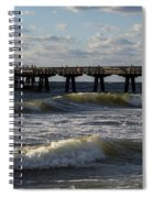 Pompano Beach Fishing Pier At Sunrise Florida Sunrise Waves Spiral Notebook