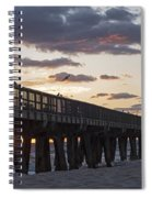 Pompano Beach Fishing Pier At Sunrise Florida Spiral Notebook