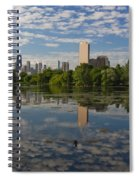 Pond And The Chicago Skyline Spiral Notebook