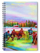 Pond Hockey Blue Skies Spiral Notebook