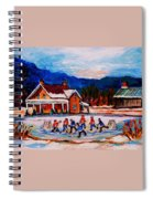 Pond Hockey Spiral Notebook