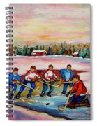 Pond Hockey Warm Day Spiral Notebook