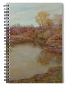 Pond In Early Autumn Spiral Notebook