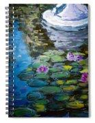 Pond In Monet Garden Spiral Notebook
