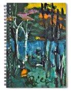 Pond Near Fourth Lake Spiral Notebook