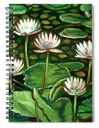 Pond Of Petals Spiral Notebook