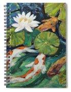 Pond Swimmers Koi Spiral Notebook