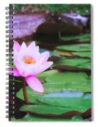 Pond With Water Lilly Flowers Spiral Notebook